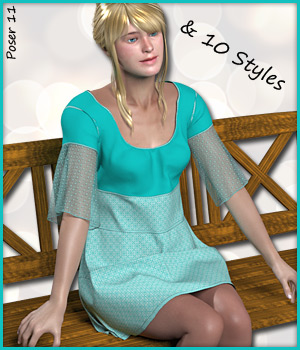Pauline Boho Dress 3D Figure Assets karanta