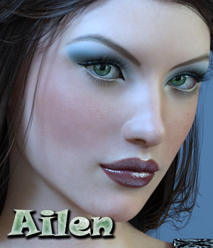 Ailen for G3F 3D Figure Assets Anain