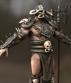 Barbarian Predator - Extended License 3D Models Extended Licenses 3D Game Models : OBJ : FBX KRBY