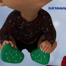 Baby Socks for Toon Generation 2 for Genesis 3 Male image 3