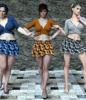 Savannah Wrap Top and Skirt 3D Figure Essentials Lionlady