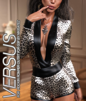 VERSUS - Rockin Romper Outfit for Genesis 3 Female(s) 3D Figure Assets Anagord
