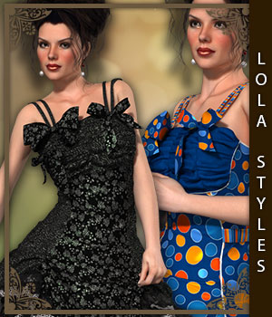 Lola Styles for Lolita Dress 3D Figure Assets sandra_bonello