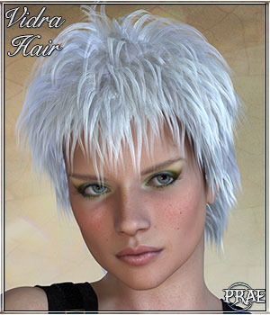 Vidra Hair For poser 3D Figure Assets prae