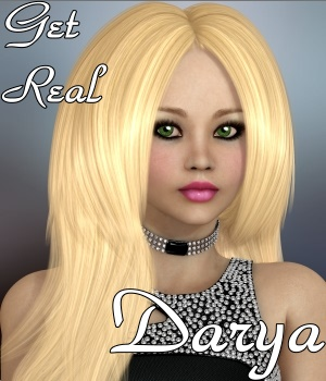 Get Real for Darya hair 3D Figure Assets chrislenn