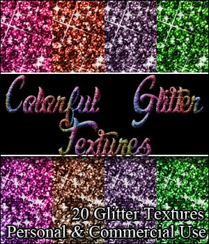 Colorful Glitter Textures! 2D Graphics Merchant Resources MarieMcKennaDesigns