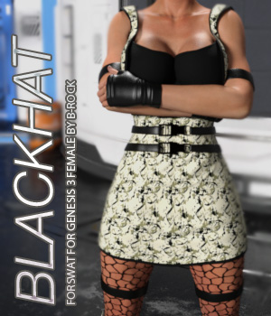 BLACKHAT for Swat for Genesis 3 Females 3D Figure Assets Anagord