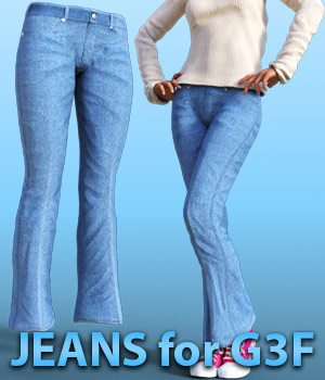 Jeans for G3 females 3D Figure Assets powerage