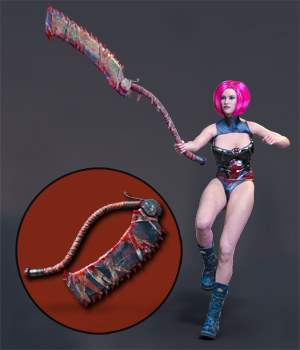 Slide3D Sinister Huntress Poses with Axe for Genesis 3 Females 3D Figure Assets 3D Models Slide3D