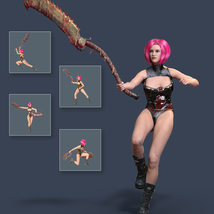 Slide3D Sinister Huntress Poses with Axe for Genesis 3 Females image 3