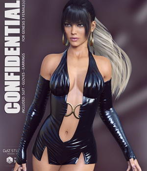Confidential for Genesis 3 Females 3D Figure Assets lilflame