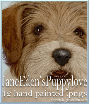 JaneEdens Puppy Love 2D Graphics JaneEden