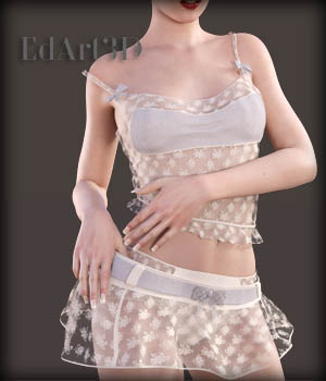 Charming Dress Set for G3F 3D Figure Essentials EdArt3D