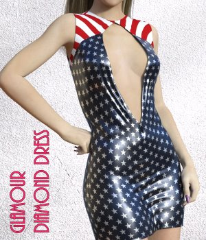 Glamour for Diamond Dress 3D Figure Assets chasmata