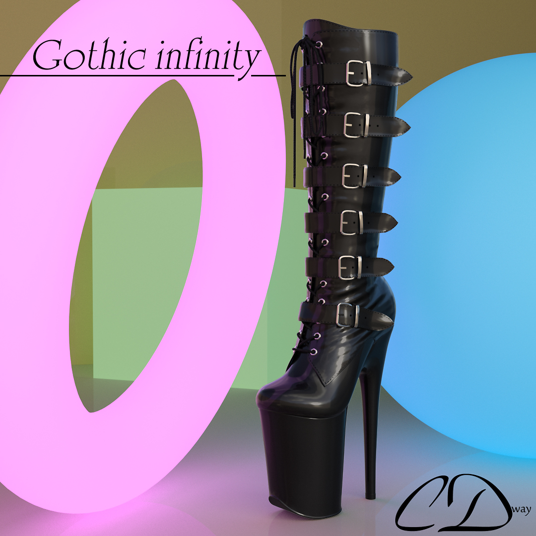 Gothic infinity for genesis 2 female and genesis 3 female