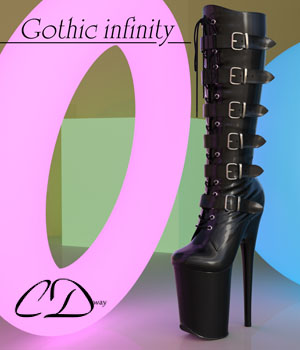 Gothic infinity for genesis 2 female and genesis 3 female 3D Figure Assets curtisdway