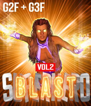SuperHero Blast for G2F & G3F Volume 2 3D Figure Assets GriffinFX