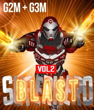 SuperHero Blast for G2M & G3M Volume 2 3D Figure Assets GriffinFX