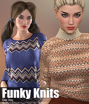 Daz Iray - Funky Knits 2D Graphics Merchant Resources Atenais