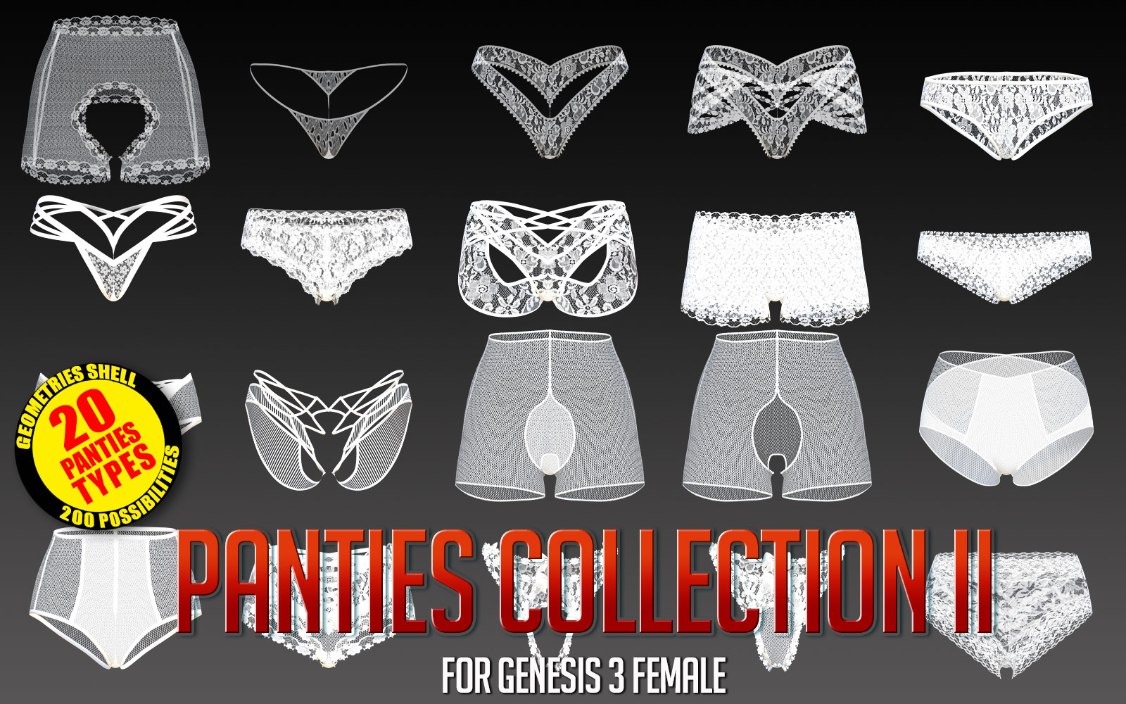 Panties Collection 2 for G3F