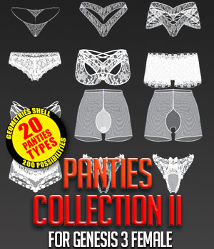 Panties Collection 2 for G3F 3D Figure Essentials powerage