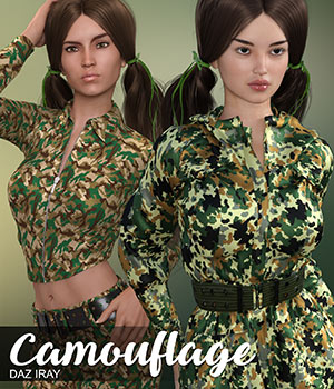 DAZ Iray - Camouflage 2D Graphics Merchant Resources Atenais