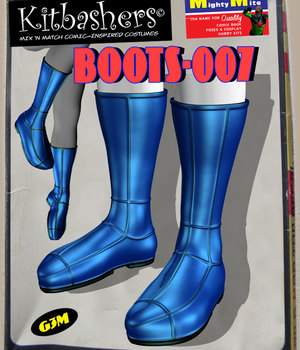 Kitbashers_Boots-007 -- By MightyMite for G3M 3D Figure Assets MightyMite