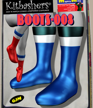 Kitbashers_Boots-008 -- By MightyMite for G3M 3D Figure Assets MightyMite