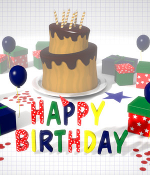 Birthday Set - Extended License 3D Models Extended Licenses Game Content - Games and Apps KRBY