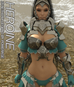 HEROINE for Zhaetheria Legend - IRAY EXPANSION  3D Figure Essentials Anagord