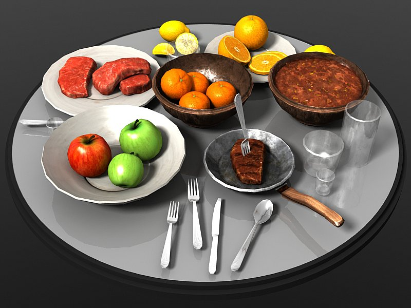 Food Items - Extended License 3D Models Extended Licenses 3D Game