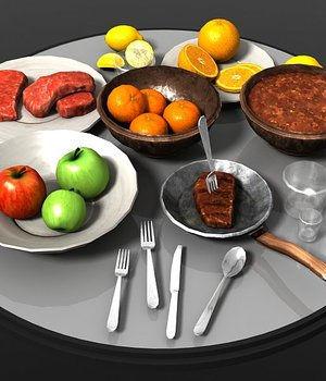 Food Items - Extended License 3D Models Extended Licenses Game Content - Games and Apps KRBY