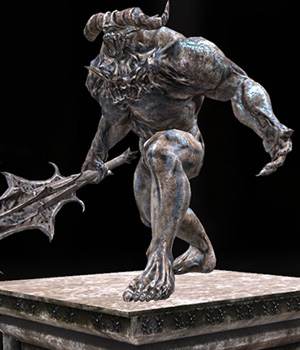 Demon Statue - Extended License 3D Models Extended Licenses 3D Game Models : OBJ : FBX KRBY