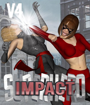 SuperHero Impact for V4 Volume 1  3D Figure Essentials GriffinFX