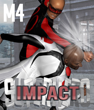 SuperHero Impact for M4 Volume 1 3D Figure Assets GriffinFX