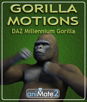 Gorilla Motions 3D Figure Essentials ka06059