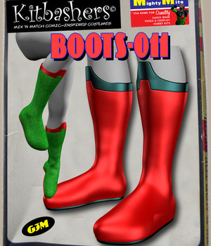 Kitbashers_Boots-011 -- By MightyMite for G3M 3D Figure Assets MightyMite