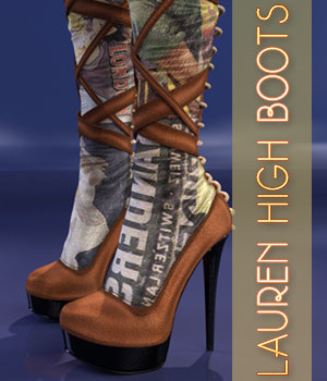 Lauren High Boots - G3F 3D Figure Essentials 3DSublimeProductions