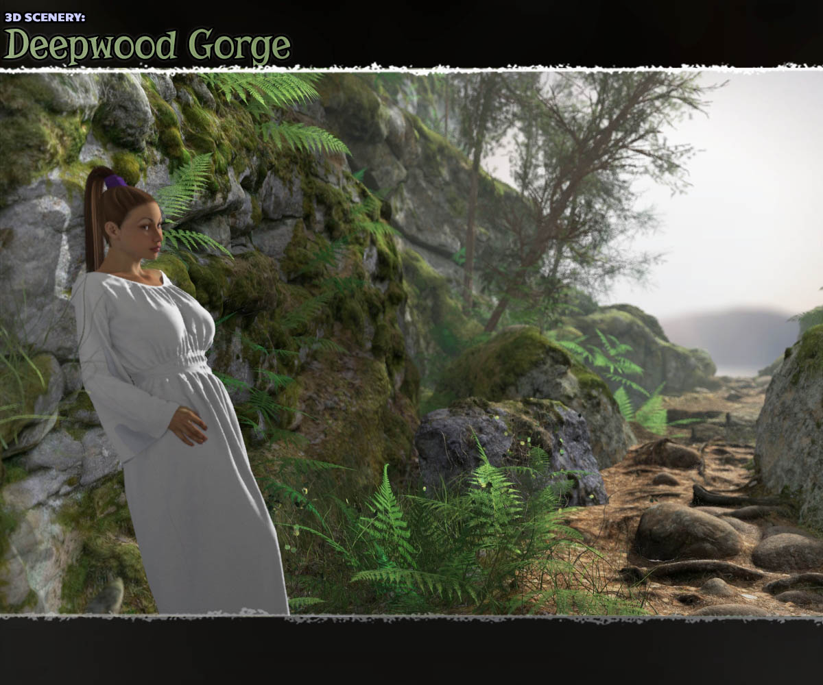 3D Scenery: Deepwood Gorge