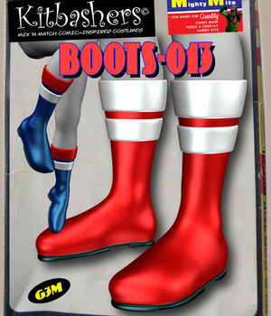 Kitbashers_Boots-013 -- By MightyMite for G3M 3D Figure Assets MightyMite