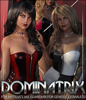 Dominatrix for Jail Guardian 3D Figure Assets ShanasSoulmate