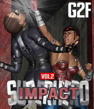 SuperHero Impact for G2F Volume 2 3D Figure Assets GriffinFX