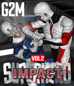 SuperHero Impact for G2M Volume 2 3D Figure Assets GriffinFX