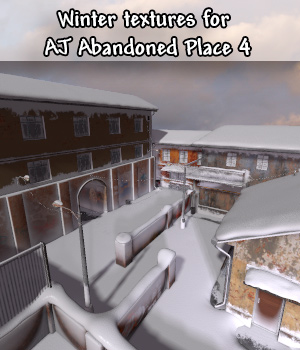 Winter Textures For AJ Abandoned Place 4 3D Models -AppleJack-
