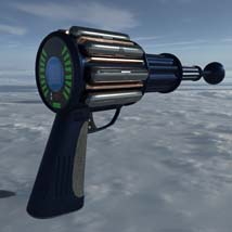 Scifi beam weapon - shrink ray prop  - Extended License image 1