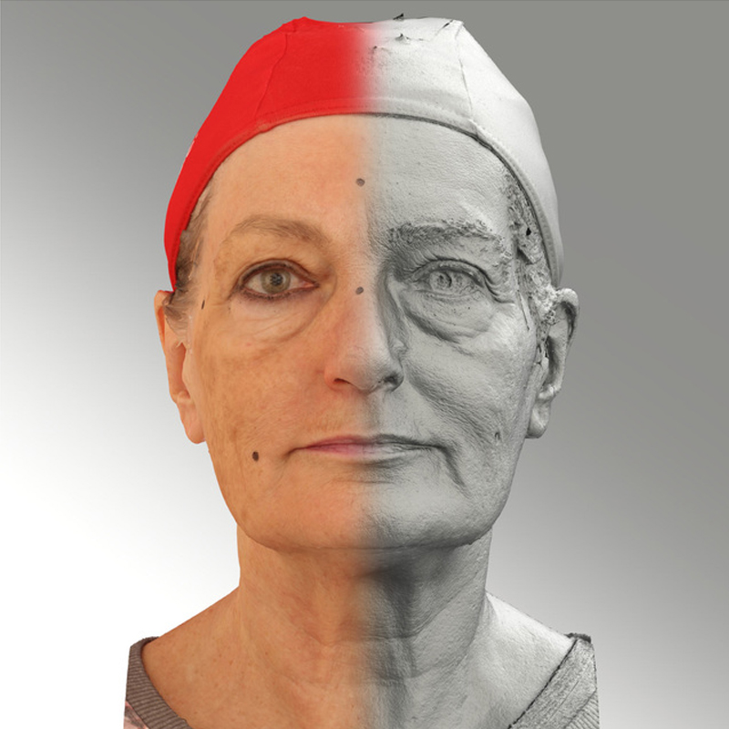Raw 3D head scan of neutral emotion - Drahomira -Extended License by levius