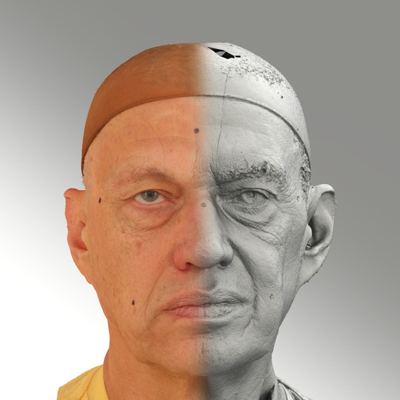 Raw 3D head scan of neutral emotion - Jan - Extended License