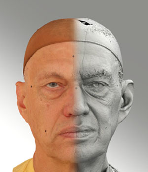 Raw 3D head scan of neutral emotion - Jan - Extended License 2D Graphics Extended Licenses 3D Game Models : OBJ : FBX levius