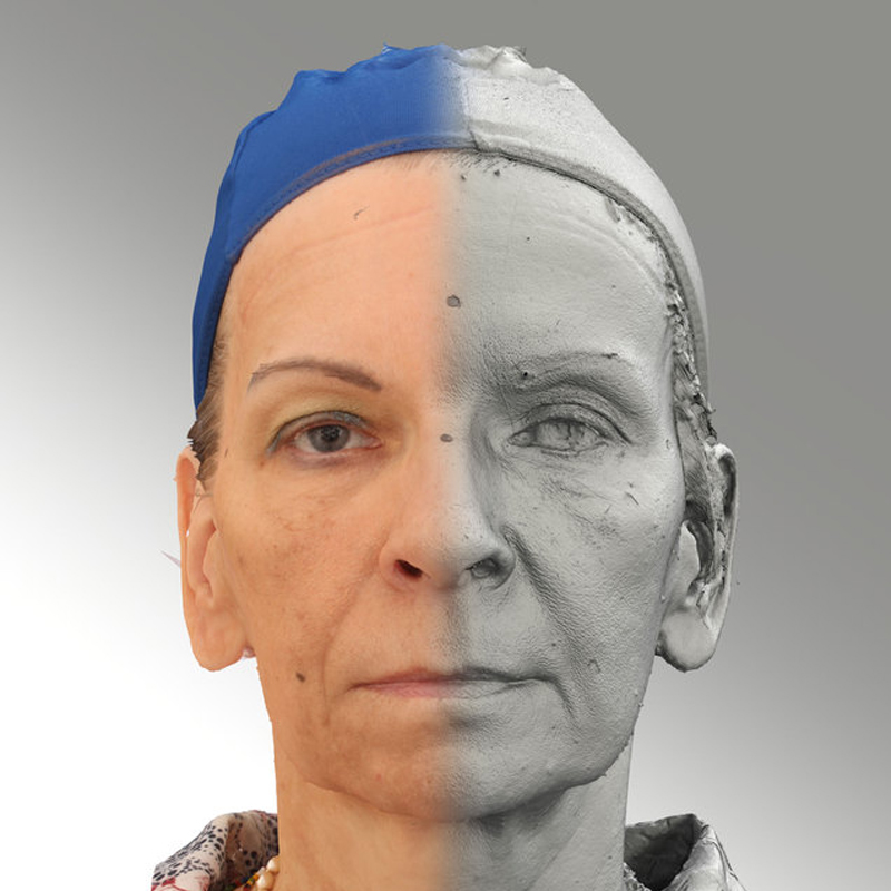 Raw 3D head scan of neutral emotion - Alena - Extended License