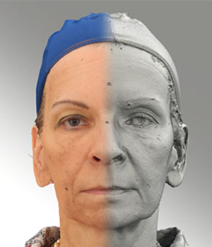 Raw 3D head scan of neutral emotion - Alena - Extended License 2D Graphics Extended Licenses 3D Game Models : OBJ : FBX levius
